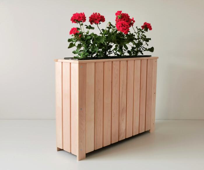 lillekast, puidust lillekast,taimekast, rõdukast